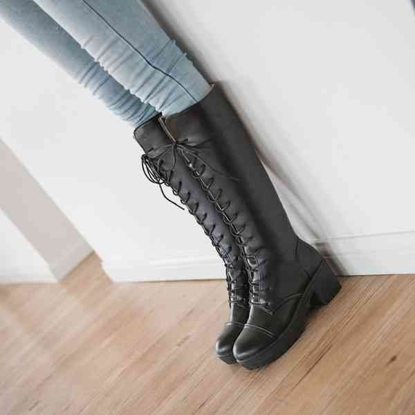 ロングブーツ 長靴 レディース シューズ レザー 革靴 カジュアル 予約商品