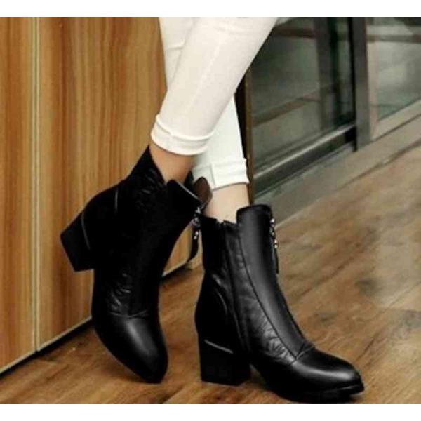 ブーツ レディース レザーシューズ 革靴 ショートブーツ カジュアル 予約商品
