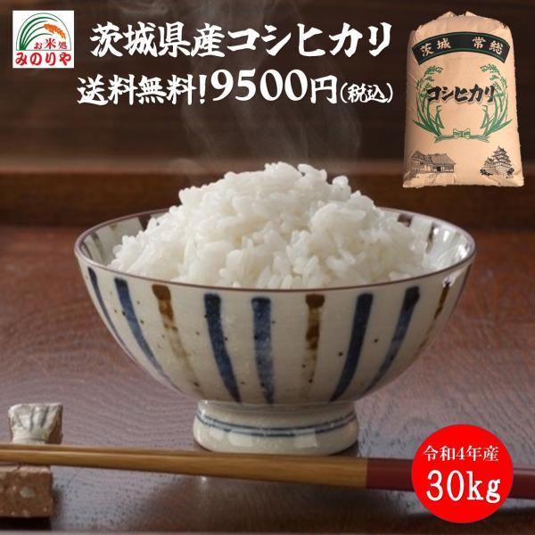 新米 令和3年産 茨城県産 コシヒカリ 玄米30kgうまい米 米専門 みのりや ポイント消化 送料無料
