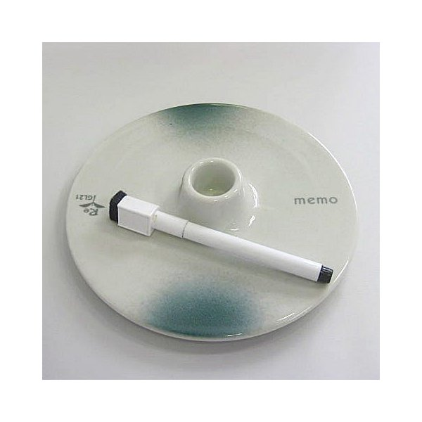 碗碗館 美濃焼 国産 メモプレート 丸 グリン 20%OFF ラッピング可|minoyakisquare|02