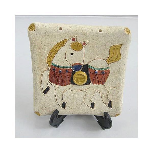 碗碗館 美濃焼 国産 手造り陶額 左馬 20%OFF ラッピング可|minoyakisquare