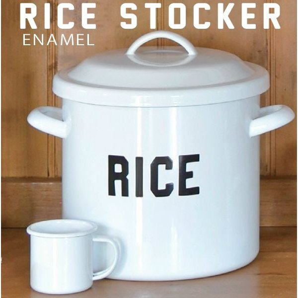 RoomClip商品情報 - ホーロー ライスストッカー ライス缶(お米保存)