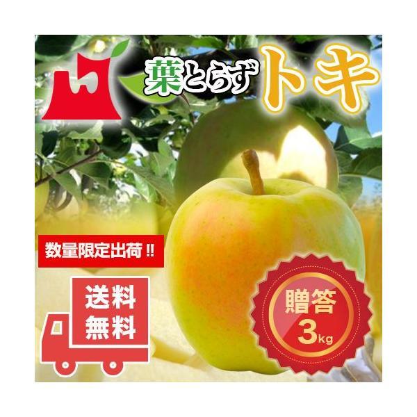 送料無料 青森県産 葉とらず トキ ご贈答用3kg (約8〜10個)ギフトに最適 [※産地直送・同梱不可]希少高級品種。数量限定!