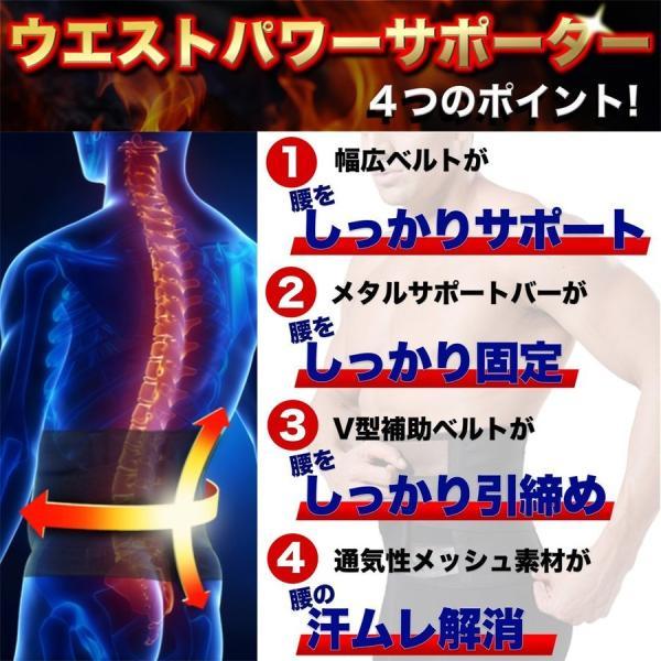 SALE ウエストパワーサポーター シェイプアップ 腰痛対策 腰用 腰痛ベルト 男女 兼用 人気 幅広 薄型 メッシュ セール miriimerii 06