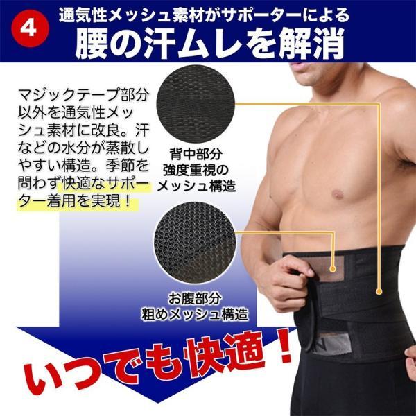 SALE ウエストパワーサポーター シェイプアップ 腰痛対策 腰用 腰痛ベルト 男女 兼用 人気 幅広 薄型 メッシュ セール miriimerii 10