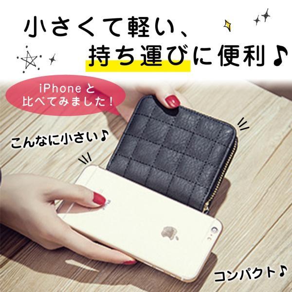 ミニ財布 小さい 二つ折り ラウンドファスナー レディース コンパクト みにさいふ miriimerii 05