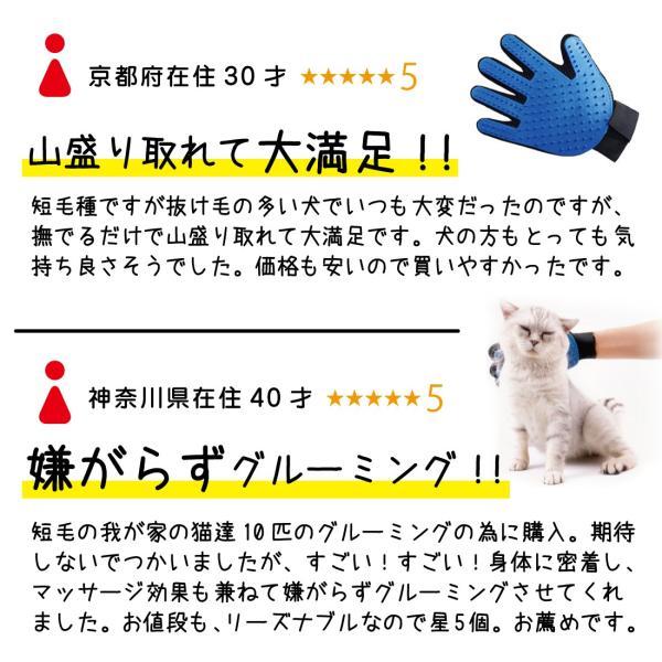 SALE グルーミング グローブ ペット の 抜け毛 が取れる! ブラッシング 手袋 コーム ペットも 気持ちいい 猫 ・ 犬 スッキリ 取れる セール|miriimerii|12