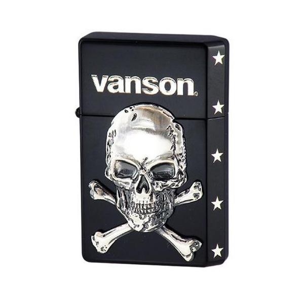オイルライター vanson×GEAR TOP V-GT-04 クロスボーンスカル ブラック