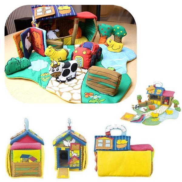 赤ちゃん 出産祝い ふわふわの布おもちゃ 特別な名前入り ふわふわファームハウス|mirukuru|05