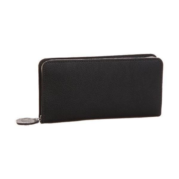 キタムラ 財布YH0082ブラック/グレーステッチ 黒 15801