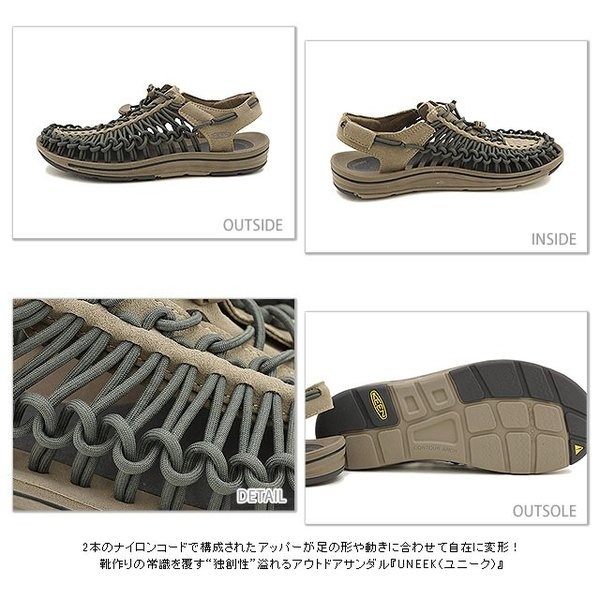 KEEN キーン KEEN メンズ サンダル ユニーク メンズ Brindle/Magnet  1013087 SS15|mischief|03