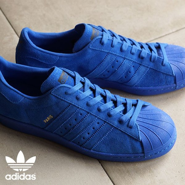 adidas ブルー スニーカー