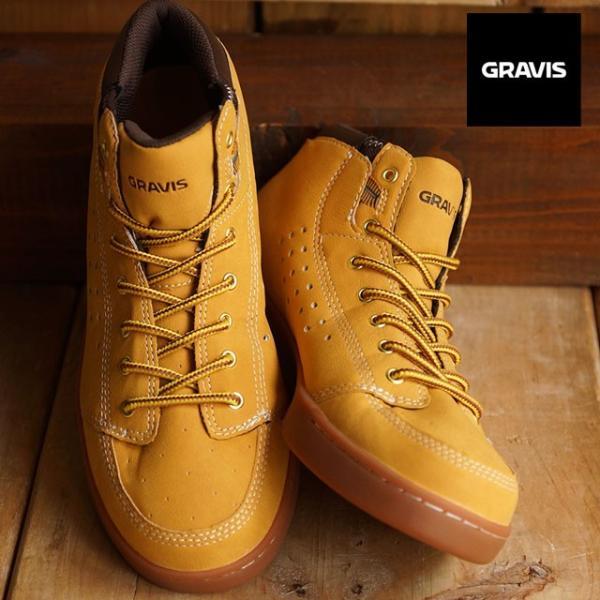 GRAVIS グラビス スニーカー メンズ ターマック ハイカット WHEAT  12830103210 FW15|mischief|02