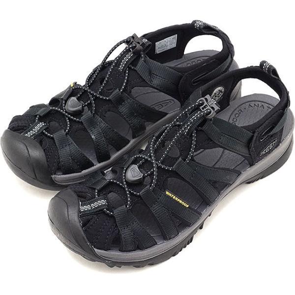KEENキーンサンダル靴レディースWWHISPERウィスパーBlackMagnet1018227SS18