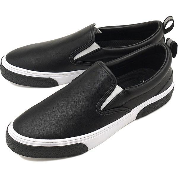 限定カラー スラック フットウェア SLACK FOOTWEAR スニーカー カーマー LX CALMER LX メンズ スリッポン BLACK WHITE BLACK ブラック系 SL1225-099 FW19 mischief