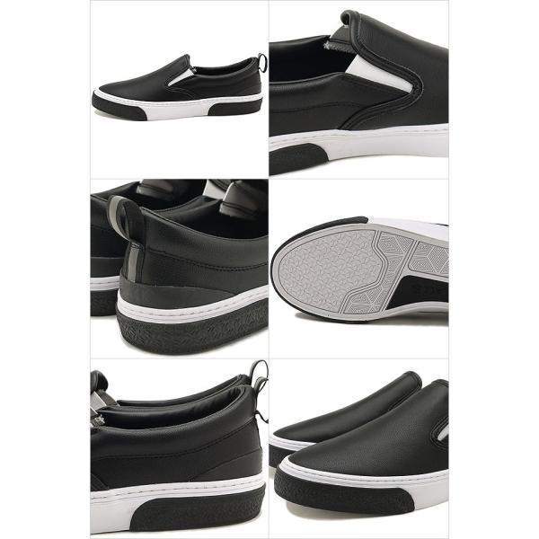 限定カラー スラック フットウェア SLACK FOOTWEAR スニーカー カーマー LX CALMER LX メンズ スリッポン BLACK WHITE BLACK ブラック系 SL1225-099 FW19 mischief 03