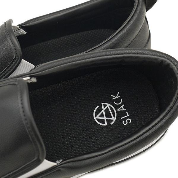 限定カラー スラック フットウェア SLACK FOOTWEAR スニーカー カーマー LX CALMER LX メンズ スリッポン BLACK WHITE BLACK ブラック系 SL1225-099 FW19 mischief 04