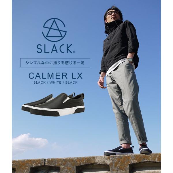 限定カラー スラック フットウェア SLACK FOOTWEAR スニーカー カーマー LX CALMER LX メンズ スリッポン BLACK WHITE BLACK ブラック系 SL1225-099 FW19 mischief 05