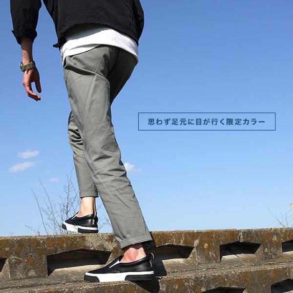 限定カラー スラック フットウェア SLACK FOOTWEAR スニーカー カーマー LX CALMER LX メンズ スリッポン BLACK WHITE BLACK ブラック系 SL1225-099 FW19 mischief 06
