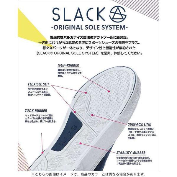 限定カラー スラック フットウェア SLACK FOOTWEAR スニーカー カーマー LX CALMER LX メンズ スリッポン BLACK WHITE BLACK ブラック系 SL1225-099 FW19 mischief 09