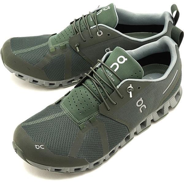 On オン スニーカー クラウド ウォータープルーフ M Cloud Waterproof 19.99967 FW19 メンズ ランニングシューズ 靴 フォレスト ルナ カーキ系