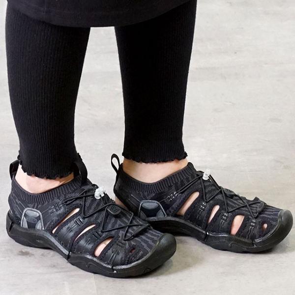 キーンKEENレディースエヴォフィットワンWOMENEVOFIT1サンダル靴Black/Black1021397SS19