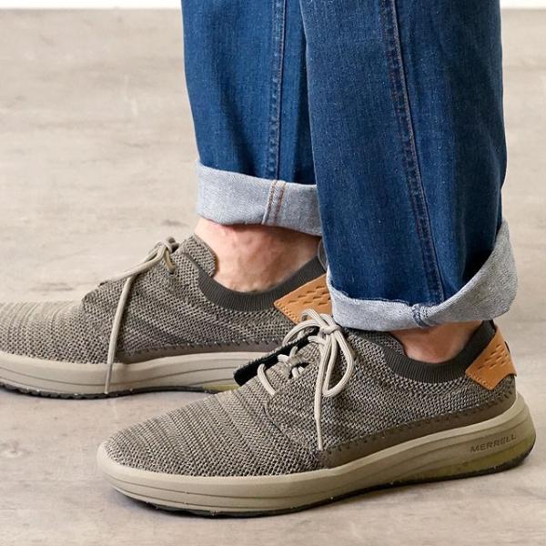 メレル MERRELL メンズ グリッドウェイ MNS GRIDWAY リラックス スニーカー 靴 BOULDER グレー系 97465 SS19|mischiefstyle