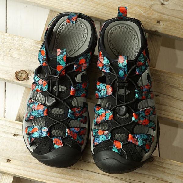 KEENキーンサンダルウィスパーWWHISPER1022807SS20レディースアウトドアウォーターシューズ靴BlackMult