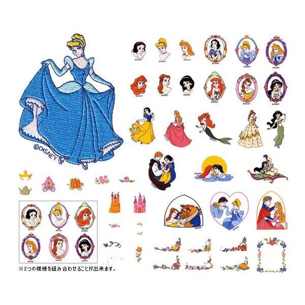 ラスト1枚!【メーカー生産終了】ディズニープリンセスワンスアポンアタイム 45模様 ECD047 ブラザーミシン刺しゅうカード brother 刺繍カード|mishin-ns