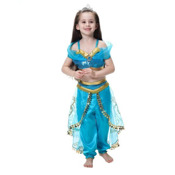 001a1d496d3c0 子供 ハロウィン コスチューム ジャスミン姫 コスプレ衣装 キッズ 女の子 プリンセスドレス クリスマス ギフト ...