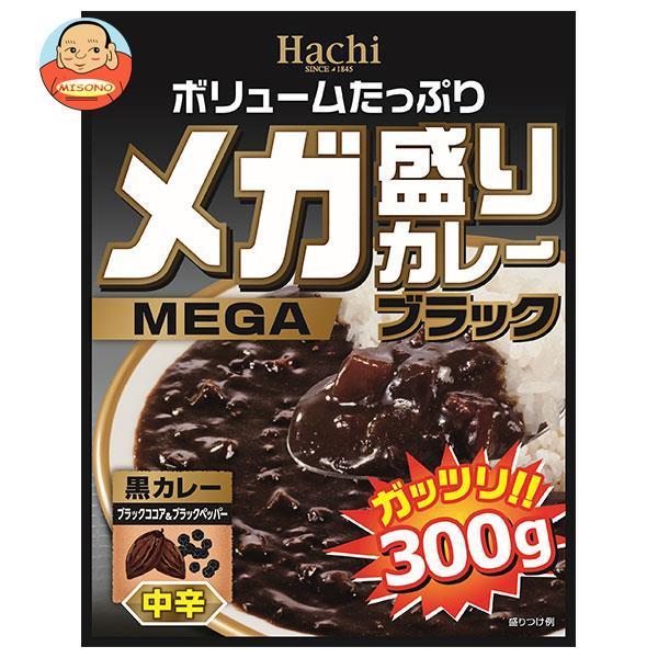 ハチ食品 メガ盛りカレー ブラック 中辛 300g×20個入