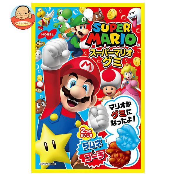 ノーベル製菓 スーパーマリオグミ ラムネ&コーラ 45g×6袋入