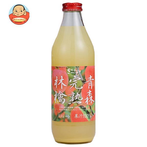 シャイニー 青森完熟林檎 1L×6本 瓶