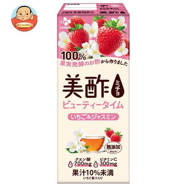 CJジャパン 美酢(ミチョ) いちご&ジャスミン 200ml紙パック×24本入