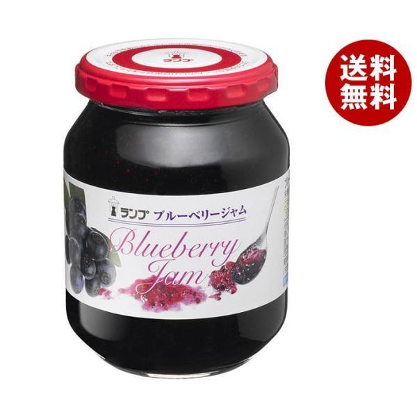 送料無料 【2ケースセット】アヲハタ ランプ ブルーベリージャム 380g瓶×12個入×(2ケース)