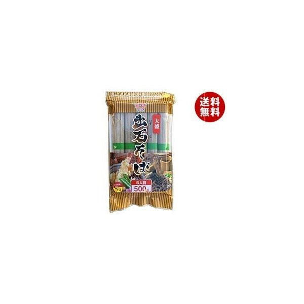 送料無料 田靡製麺 大盛出石そば 500g×12袋入