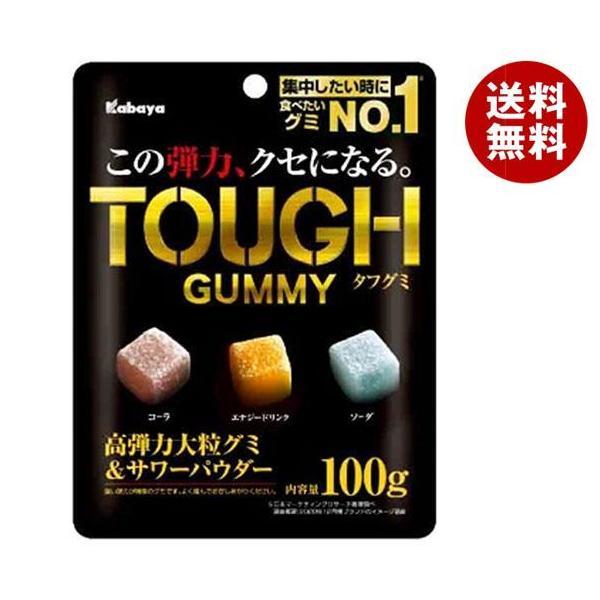 送料無料 【2ケースセット】カバヤ タフグミ 100g×6袋入×(2ケース)