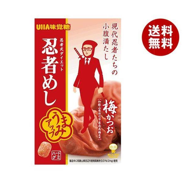 送料無料 【2ケースセット】UHA味覚糖 忍者めし (梅かつお) 20g×10袋入×(2ケース)