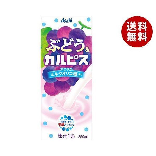 送料無料 アサヒ飲料 ぶどう&カルピス 250ml紙パック×24本入
