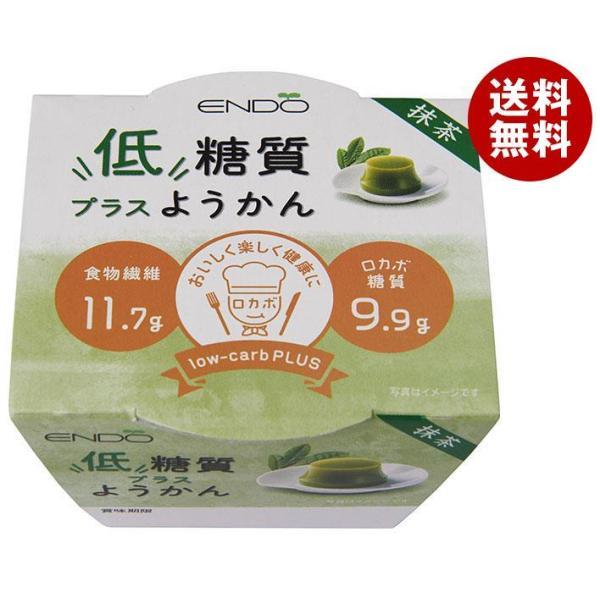 送料無料 【2ケースセット】遠藤製餡 低糖質でおいしいようかん 抹茶 90g×24個入×(2ケース)