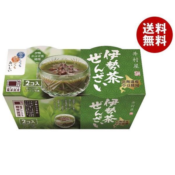 送料無料 【2ケースセット】井村屋 和風2連パック 伊勢茶ぜんざい 105g×2×12個入×(2ケース)