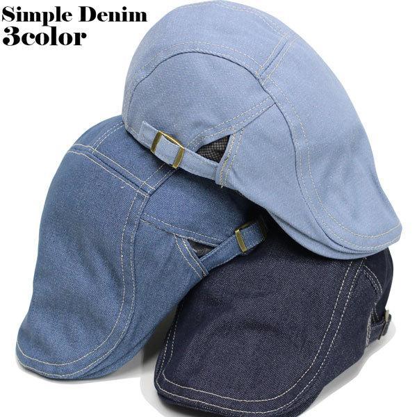 ハンチングメンズレディース帽子ハットキャップ30代40代50代60代ハンチング帽子防寒ジーンズデニムシンプルデザインサイズ調整