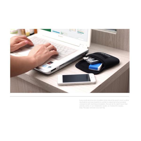 デジタルポーチ 充電ケーブル iPhone5 デジカメ ケーブルやバッテリーなどガジェットをまとめて収納 収納ポーチDONA Digital Pouch  送料無料|missbeki|02
