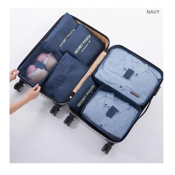 トラベルポーチ7点セット おしゃれ バッグインバッグ レディース メンズ 出張 収納バッグ シューズケース 旅行用 機能性 ゆうパケット便送料無料 missbeki 16