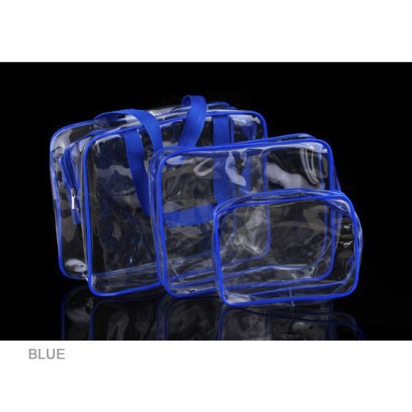 ビーチバッグ 3点セット ポーチ付き プールバッグ クリア トートバッグ 透明 ビニールバッグ クリア トート 痛バッグ ビーチグッズ ゆうパケット便送料無料|missbeki|11