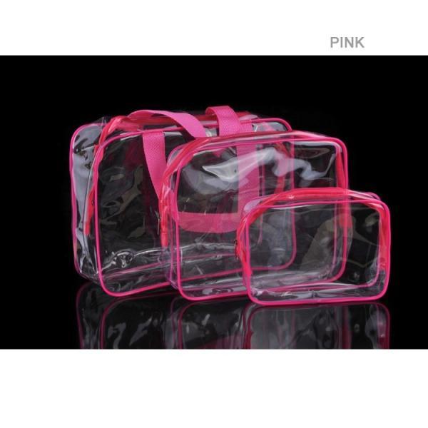 ビーチバッグ 3点セット ポーチ付き プールバッグ クリア トートバッグ 透明 ビニールバッグ クリア トート 痛バッグ ビーチグッズ ゆうパケット便送料無料|missbeki|10