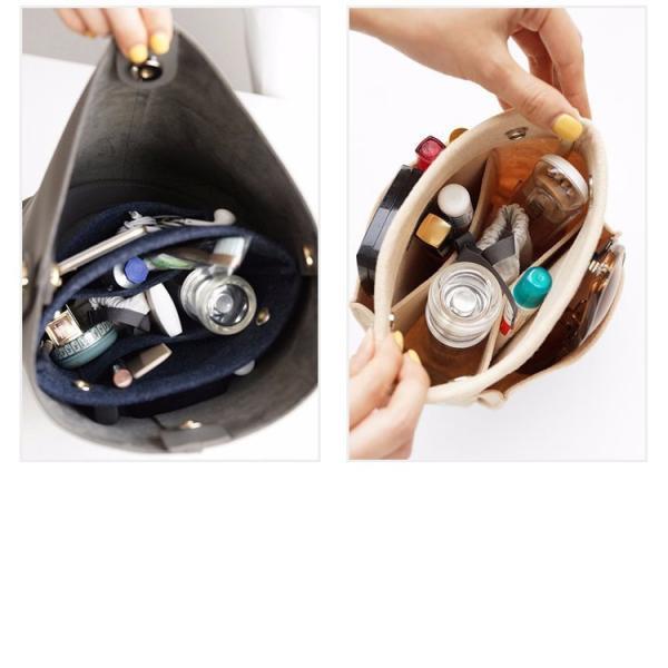 バックインバッグ レディース メンズ 軽量 フェルト バッグ用収納 小物入れ 整理 インナーバッグ トラベルポーチ ミニ 小さめ ゆうパケット便送料無料|missbeki|08