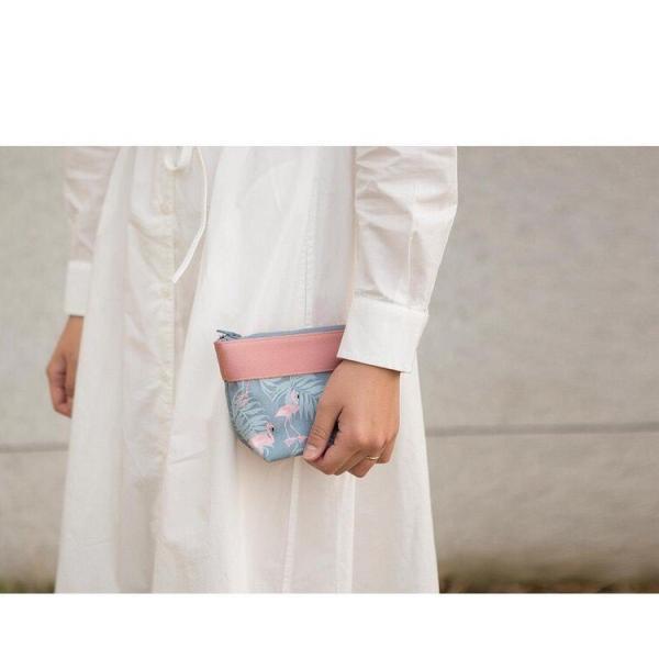 ポーチ 小物入れ 化粧ポーチ 使いやすい メイクポーチ 旅行 トラベルポーチ バッグインバッグ 可愛い おしゃれ フラミンゴ ゆうパケット送料無料|missbeki|11
