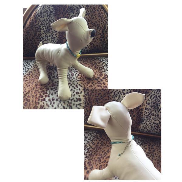 犬 首輪 おしゃれ 中型犬 小型犬 フェイクパール ニコちゃん 犬首輪 犬の首輪 猫用首輪 ペット ネックレス 手作り オーダーメイド ゆうパケット便送料無料|missbeki|04