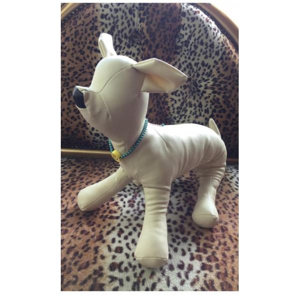 犬 首輪 おしゃれ 中型犬 小型犬 フェイクパール ニコちゃん 犬首輪 犬の首輪 猫用首輪 ペット ネックレス 手作り オーダーメイド ゆうパケット便送料無料|missbeki|09
